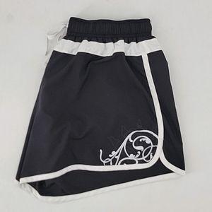 Athleta Running Shorts Black & White Size M